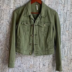 Free People Distressed jacket